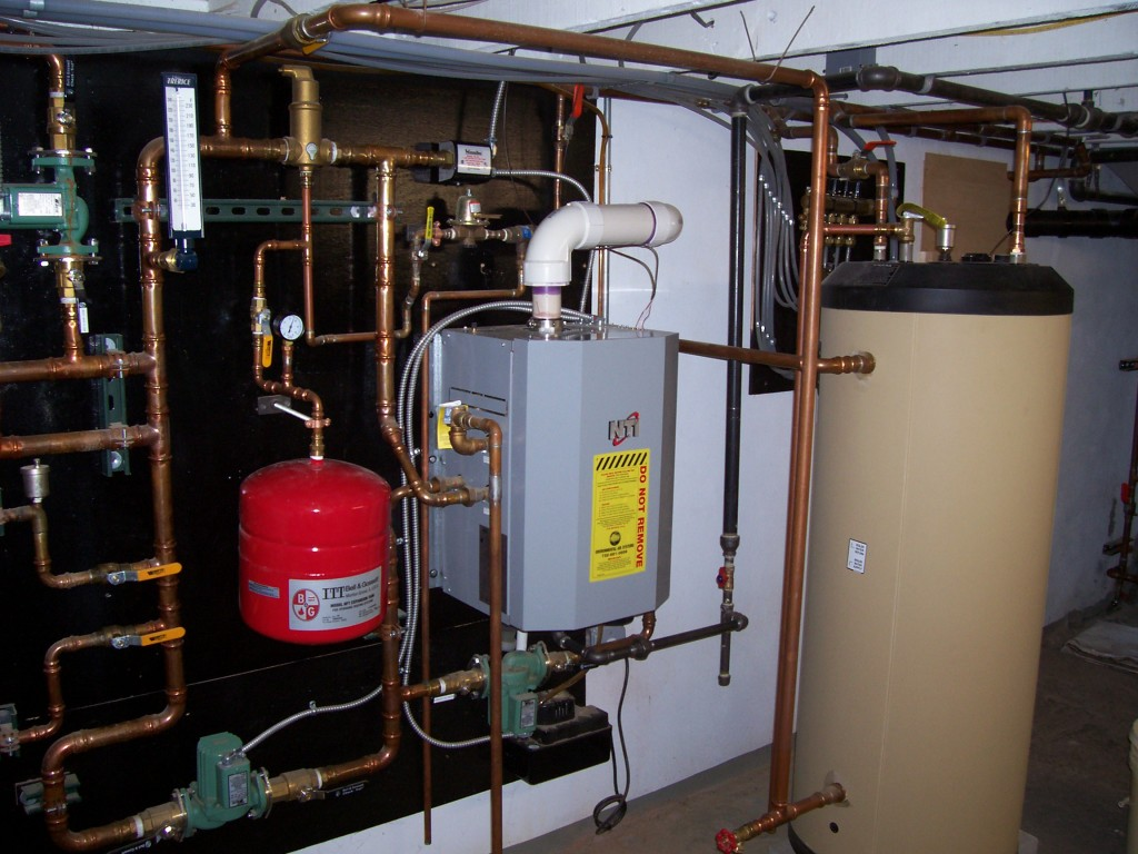High Eff. Hot Water Boiler with Fast Recovery Hydro Coils and Radiant Floor Heating System Design and Installation