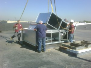 A photo of a commercial HVAC installation