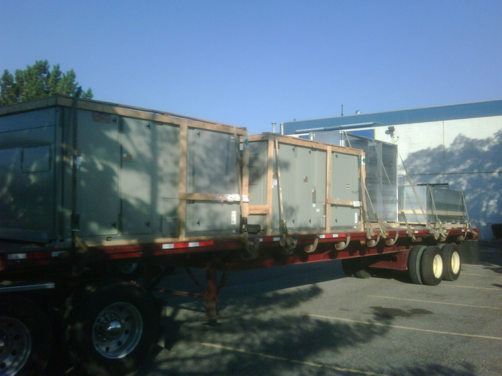 Trane Equipment Delivery
