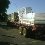 Trane Equipment Delivery with CDQ Dehumidification Curb