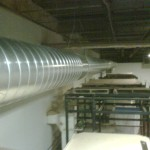 Spiral Duct Installation for 6 ton Commercial Dehumidification