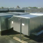 Custom Duct Fabrication for horizontal discharge rooftop unit